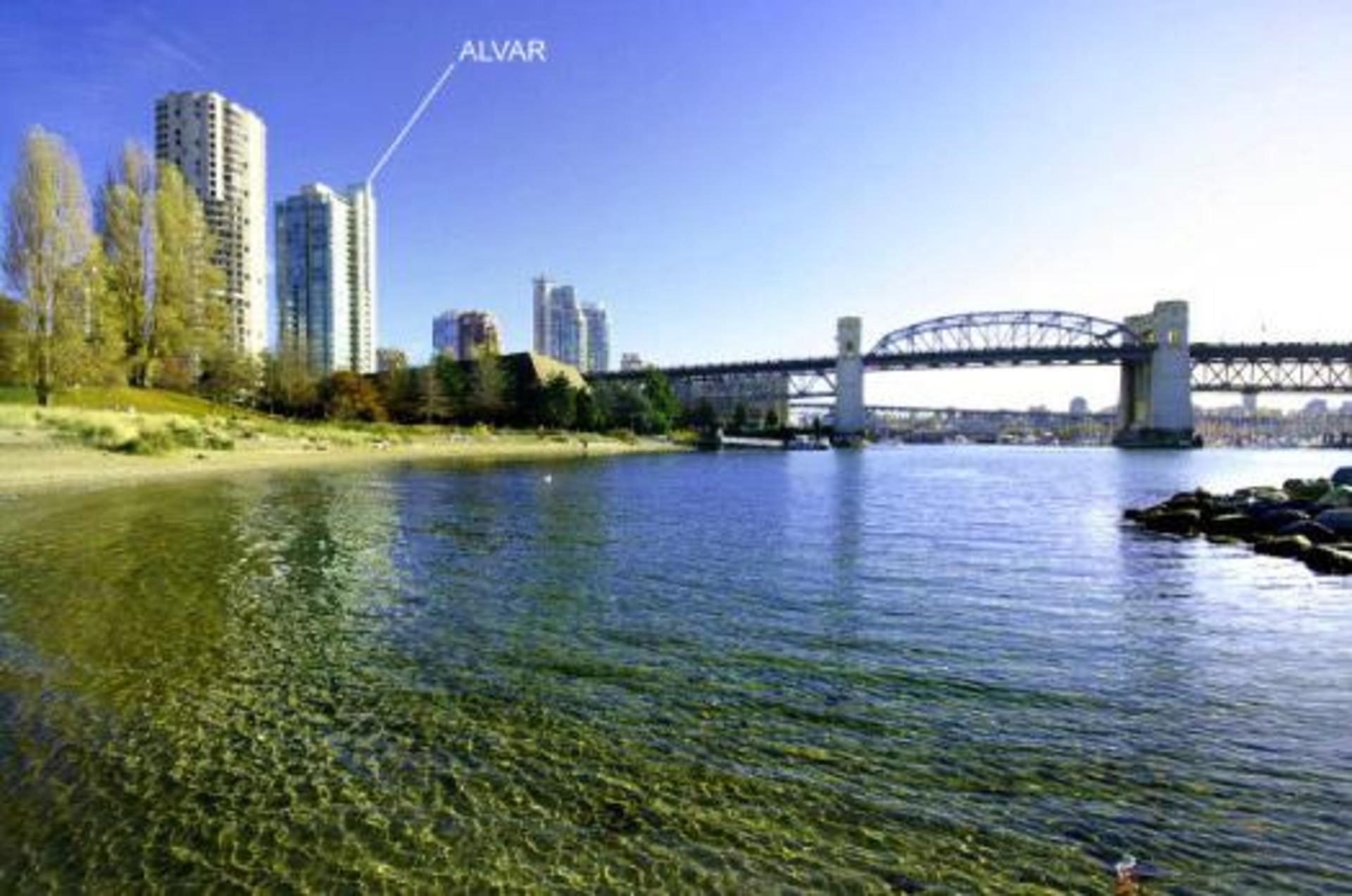 Water view at #1801 - 1005 Beach Avenue, Downtown VW, Vancouver West
