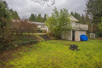 Backyard at  374 Rabbit Lane, British Properties, West Vancouver
