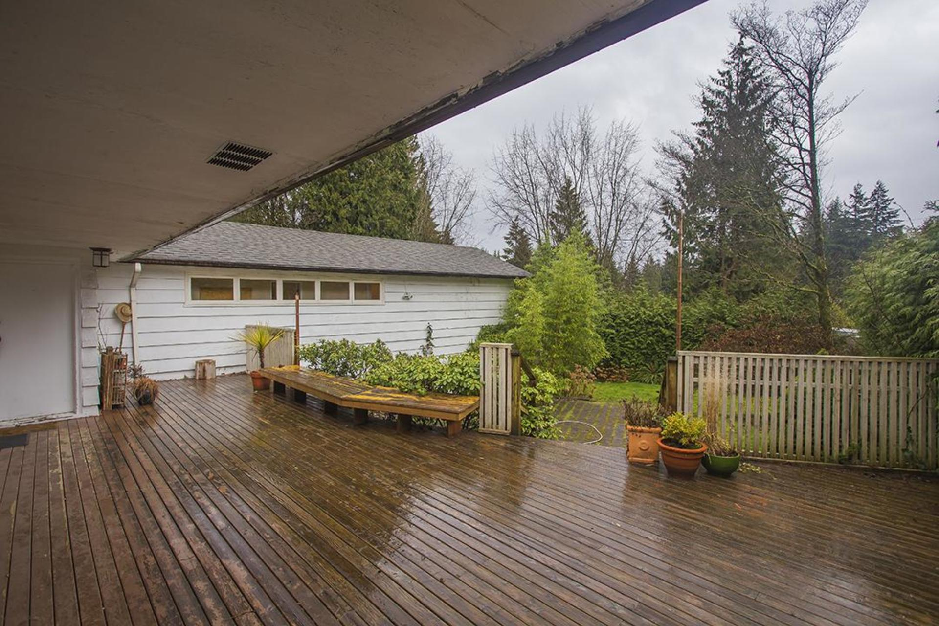 Patio at  374 Rabbit Lane, British Properties, West Vancouver