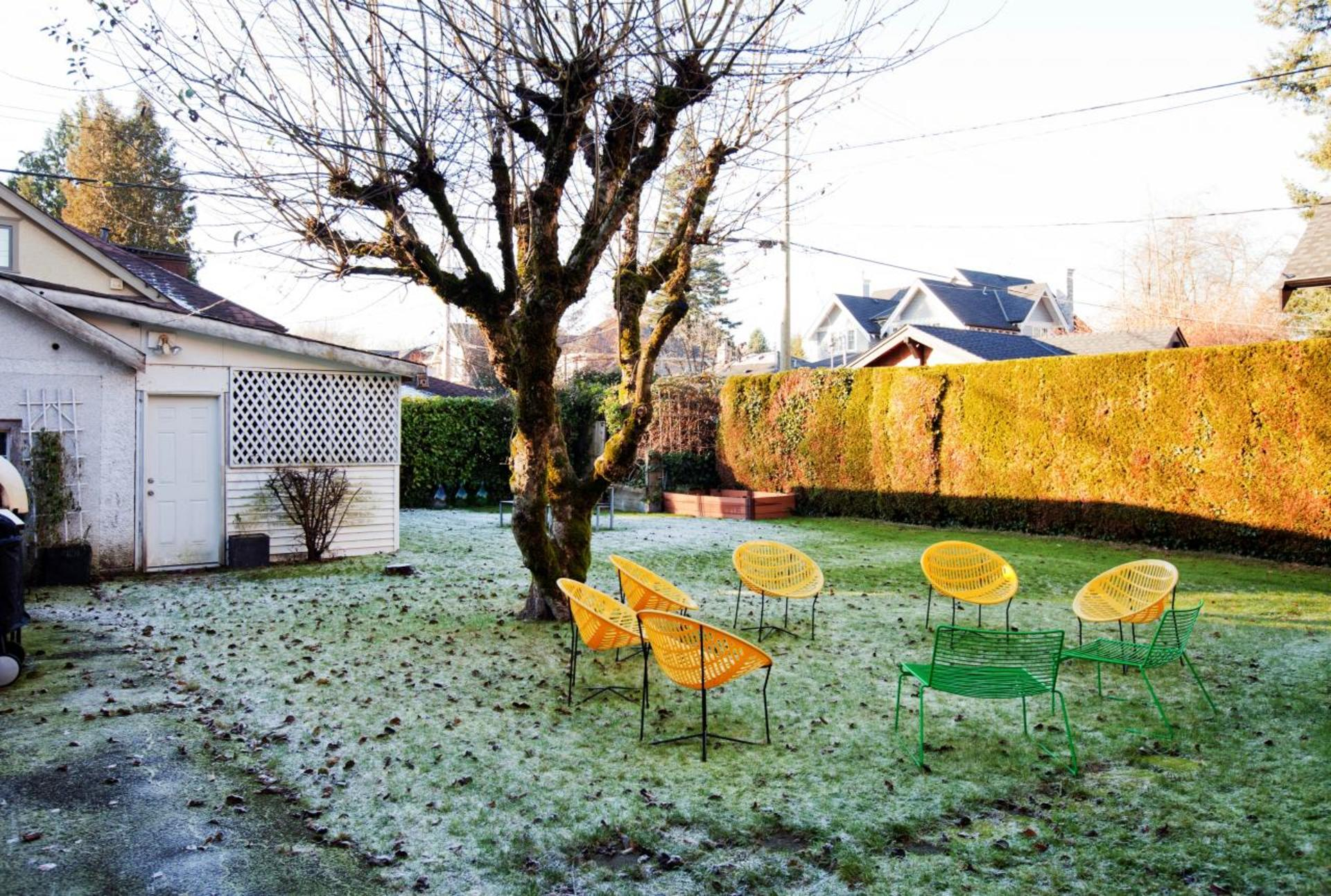 Backyard at 4260 Osler Street, Shaughnessy, Vancouver West
