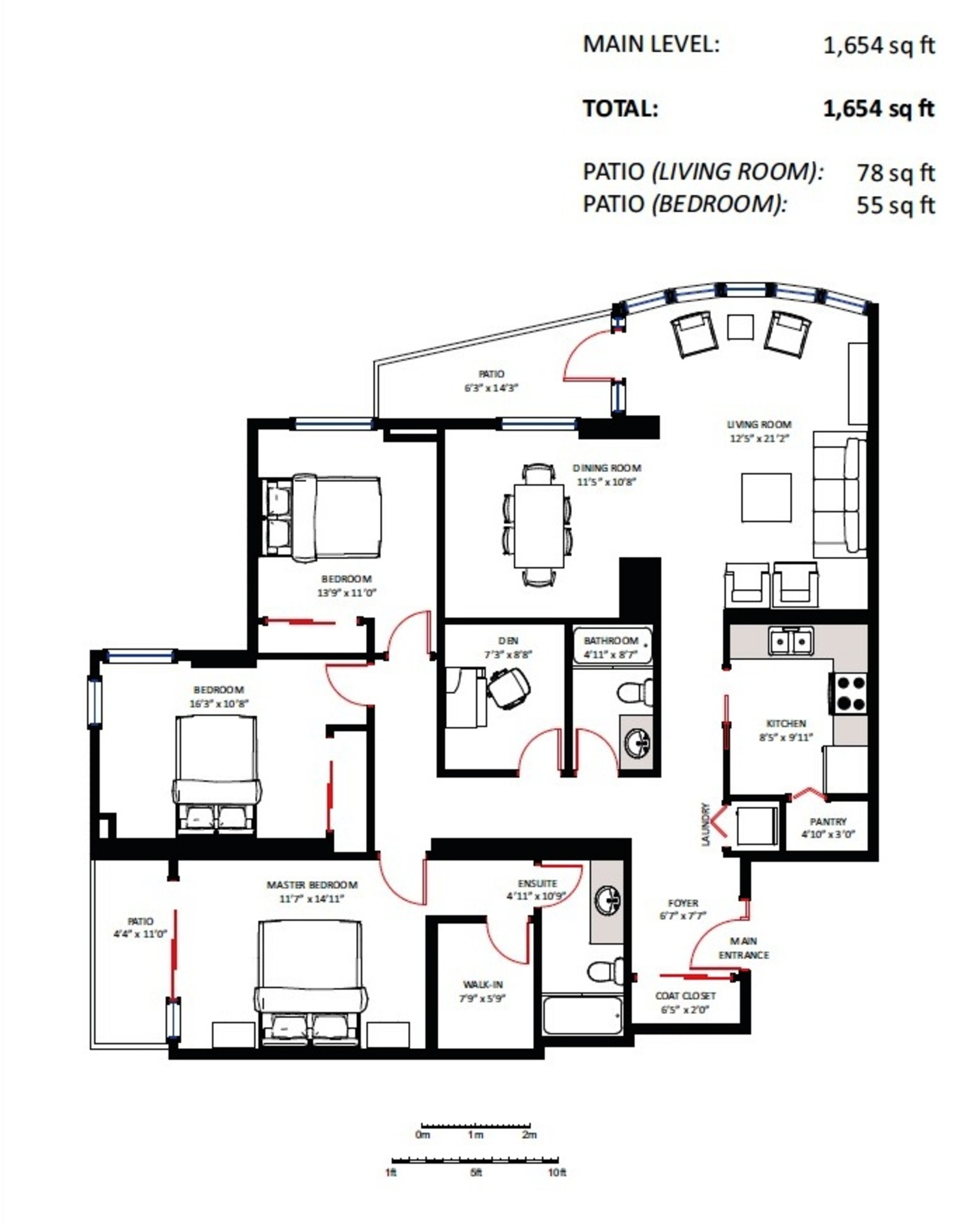 floorplan-photo at 401 - 535 Nicola Street, Coal Harbour, Vancouver West