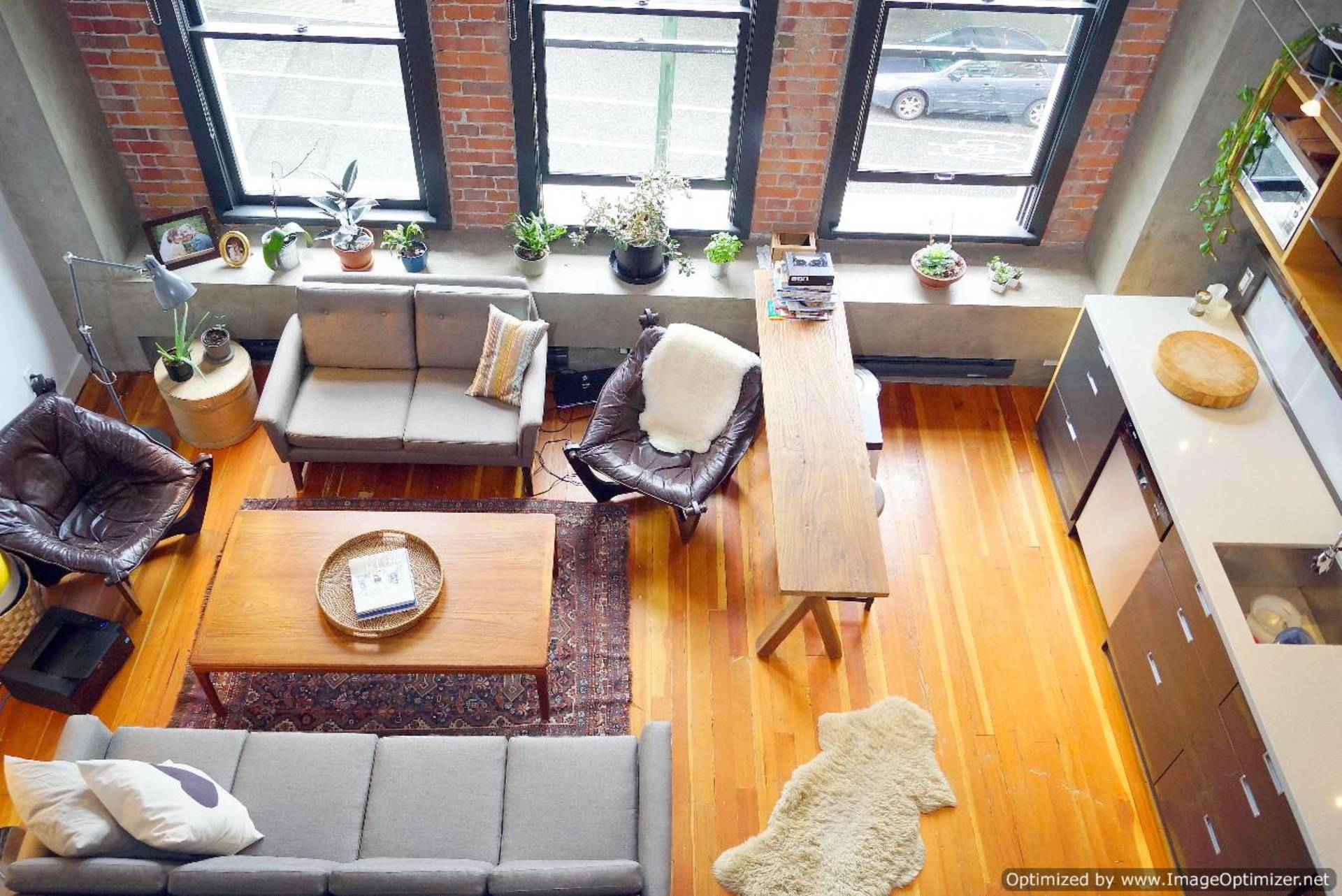 Living Room Aerial at 528 Beatty Street, Downtown VW, Vancouver West
