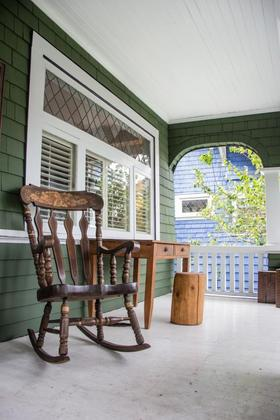 front-porch at  West 3rd Avenue, Kitsilano, Vancouver West