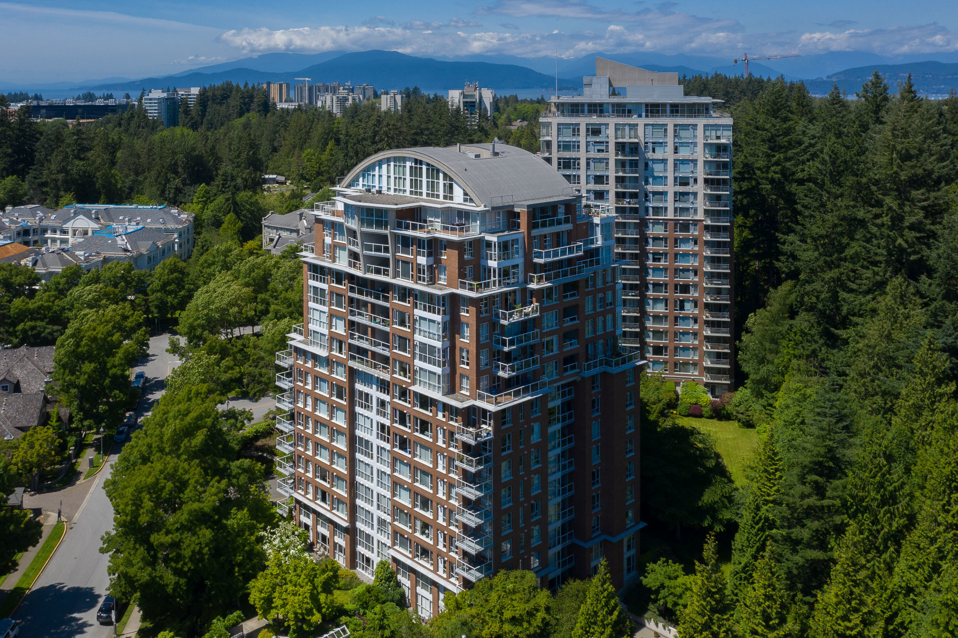 907-5617-hampton-pl-aerial-360hometours-06s at 907 - 5615 Hampton Place, University VW, Vancouver West