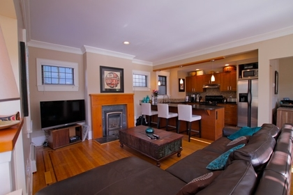 Living Room at 1 - 3090 Point Grey Road, Kitsilano, Vancouver West