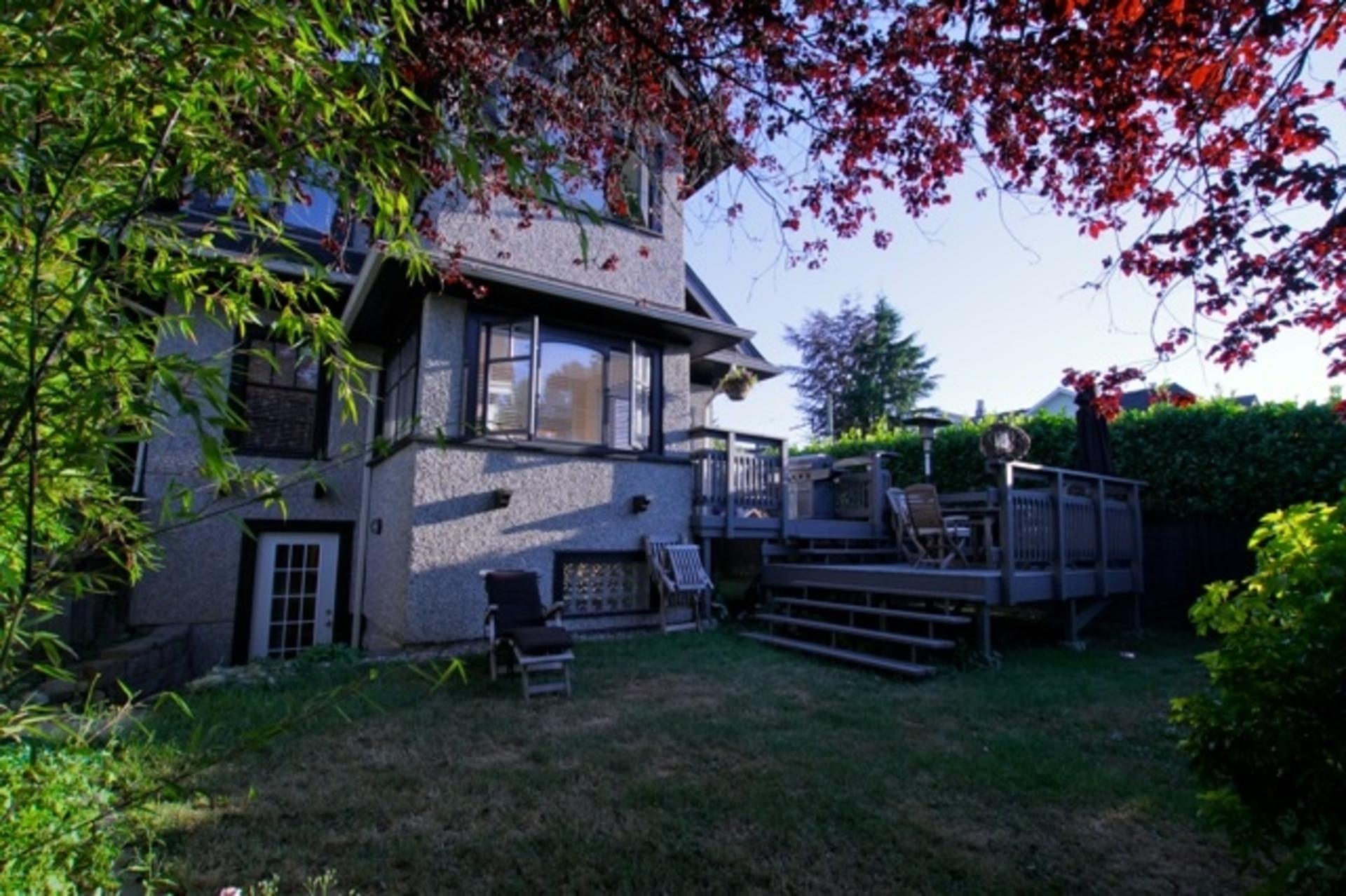 backyard at 1 - 3090 Point Grey Road, Kitsilano, Vancouver West