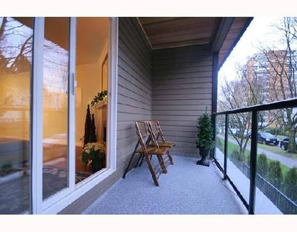 Patio at 311 - 1550 Barclay Street, West End VW, Vancouver West