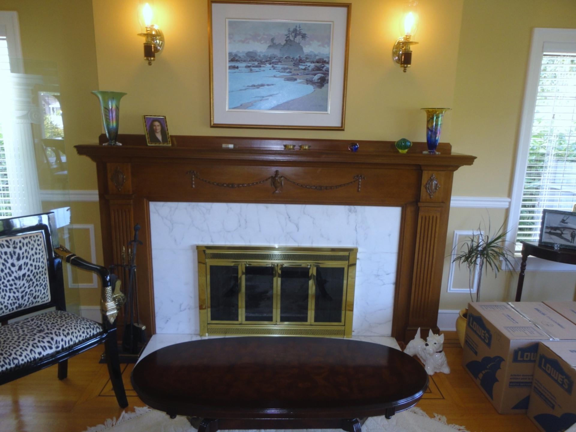 Fireplace at Address Upon Request, South Cambie, Vancouver West