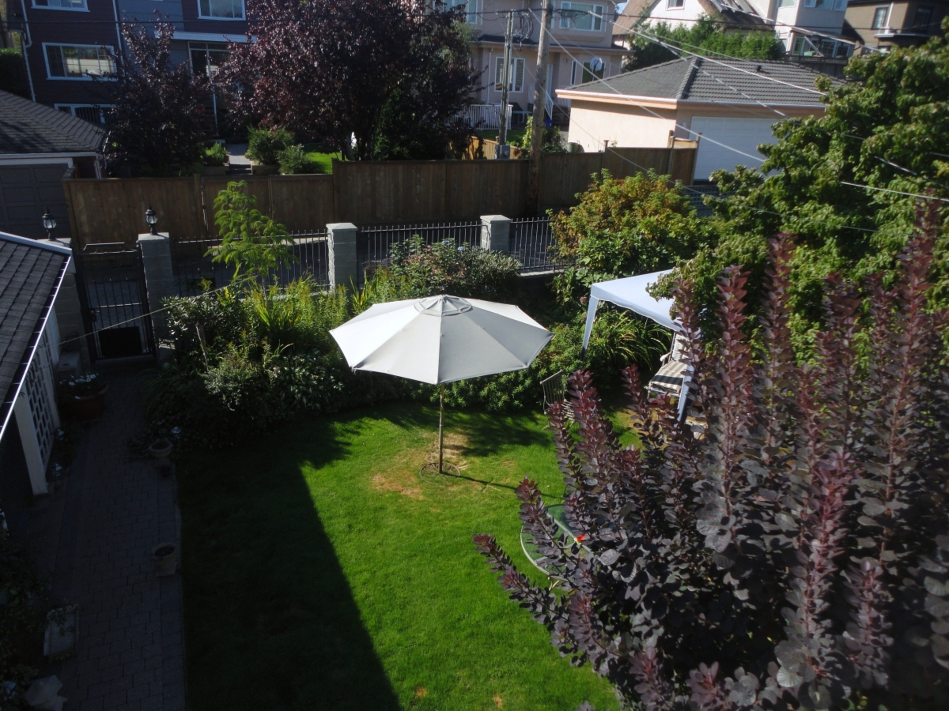 Backyard Aerial at Address Upon Request, South Cambie, Vancouver West