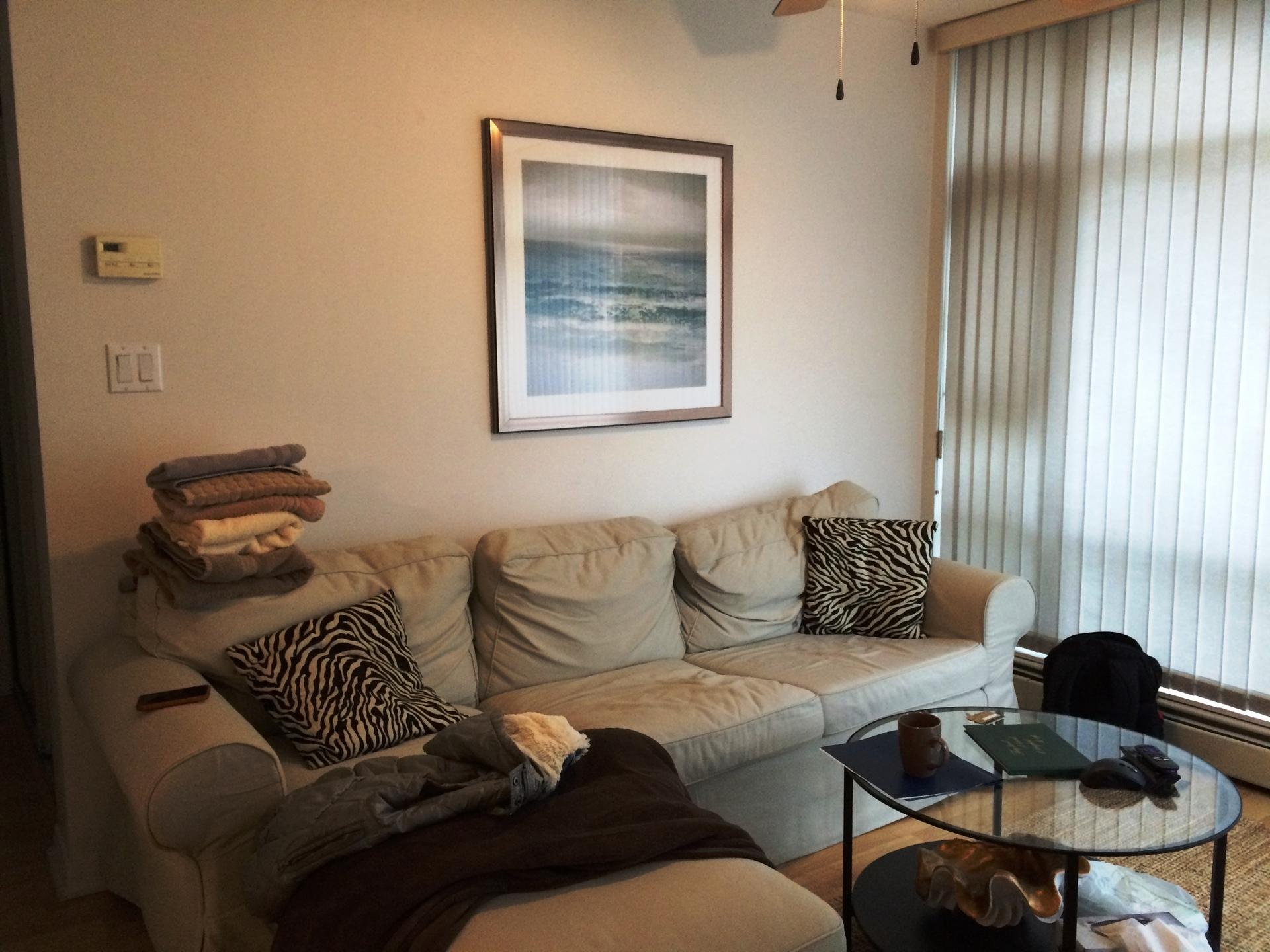 Living Room at 905 - 198 Aquarius Mews, Vancouver West