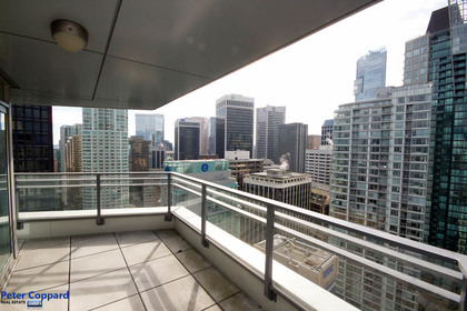 Balcony at 3002 - 1205 West Hastings, Coal Harbour, Vancouver West