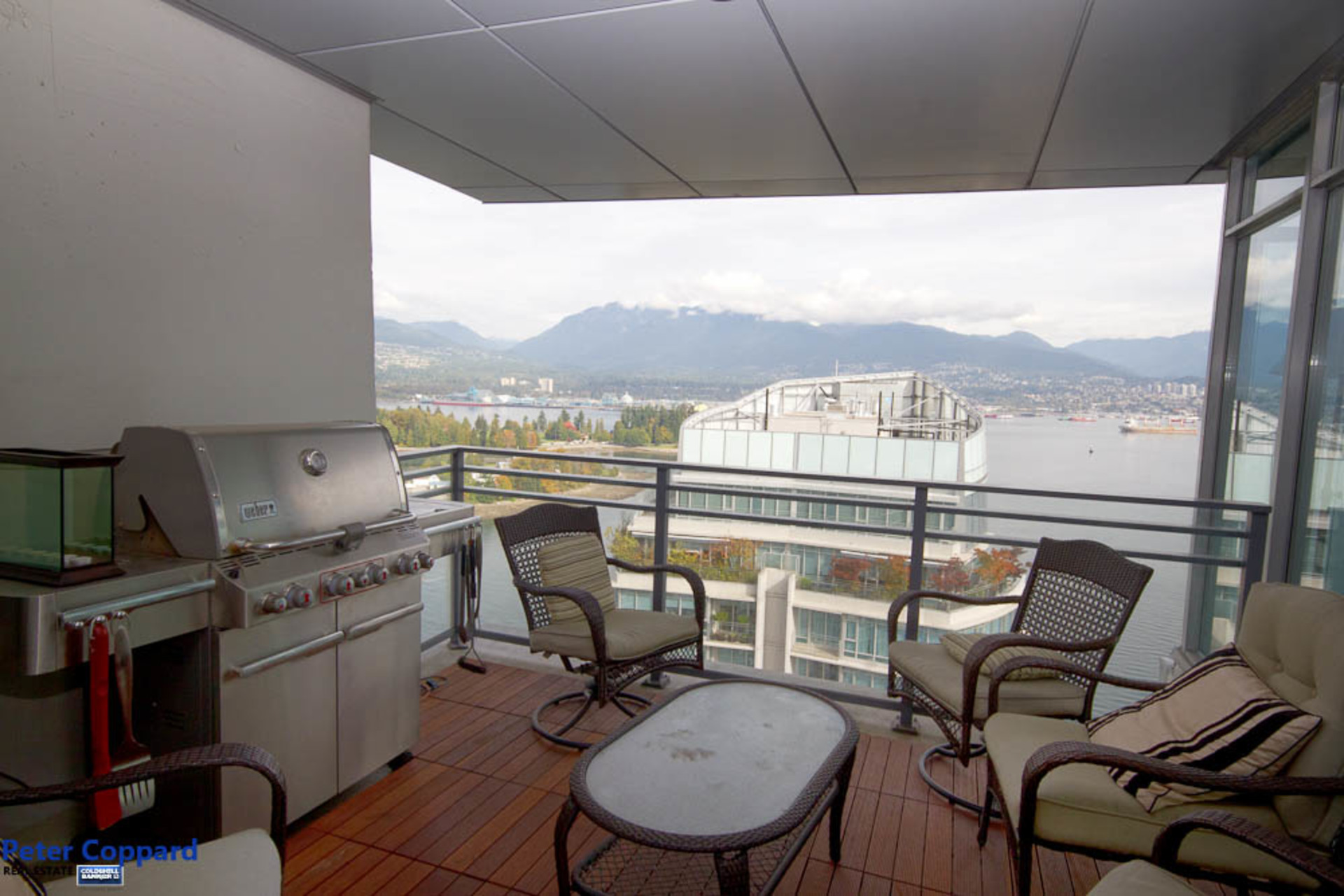 Patio at 3002 - 1205 West Hastings, Coal Harbour, Vancouver West