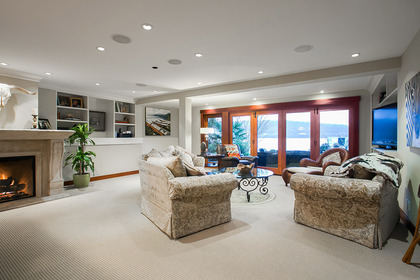 Living Room at Address Upon Request, Deep Cove, North Vancouver