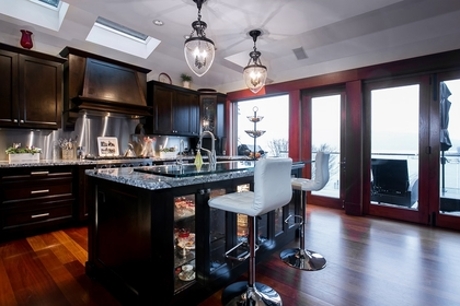Kitchen at Address Upon Request, Deep Cove, North Vancouver