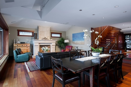 Dining Room at Address Upon Request, Deep Cove, North Vancouver