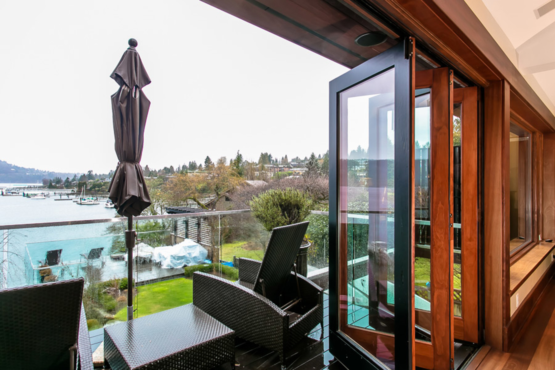 Balcony at Address Upon Request, Deep Cove, North Vancouver