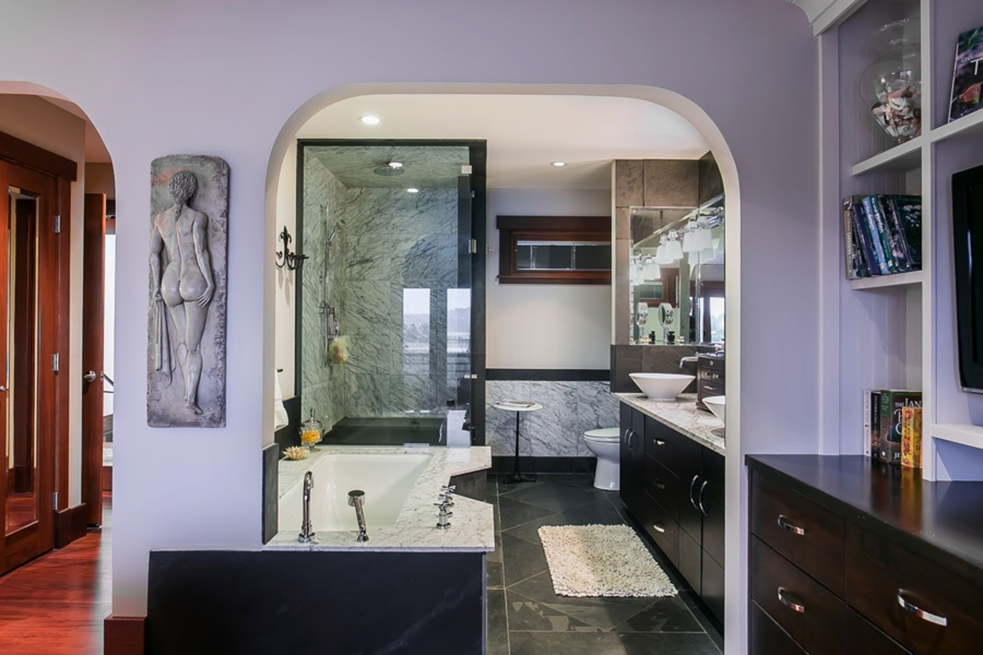 Bathroom at Address Upon Request, Deep Cove, North Vancouver