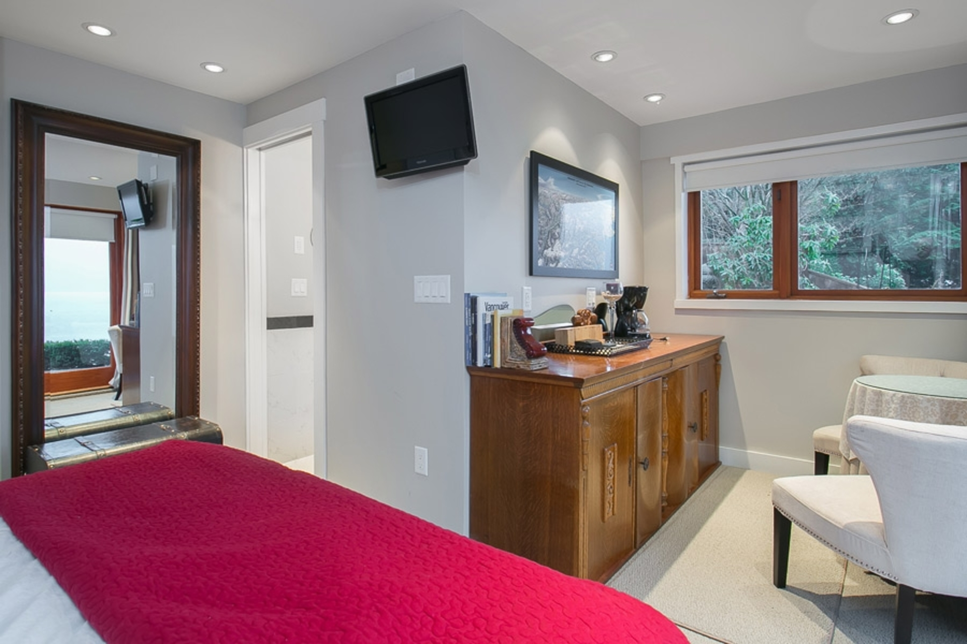 Bedroom at Address Upon Request, Deep Cove, North Vancouver