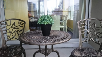 Patio at 1005 - 1383 Marinaside, Yaletown, Vancouver West