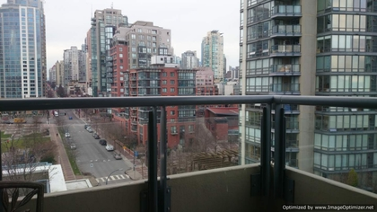 Balcony at 1005 - 1383 Marinaside, Yaletown, Vancouver West