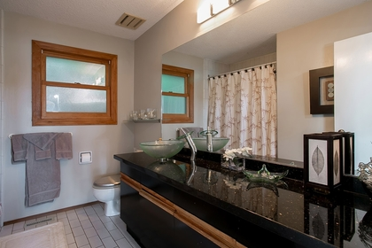 Bathroom at Address Upon Request, Out of Town