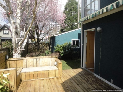Patio at 4679 W 12th, Point Grey, Vancouver West