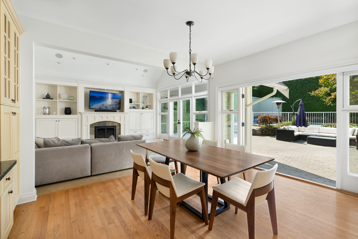 Dining & Living Area at 4682 Decourcy Court, Caulfeild, West Vancouver
