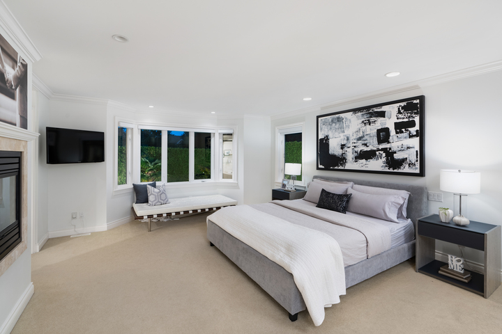 Master Bedroom at 4682 Decourcy Court, Caulfeild, West Vancouver