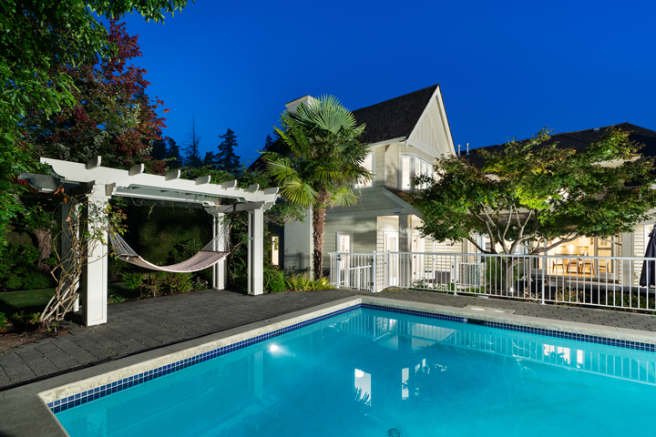 Pool at 4682 Decourcy Court, Caulfeild, West Vancouver
