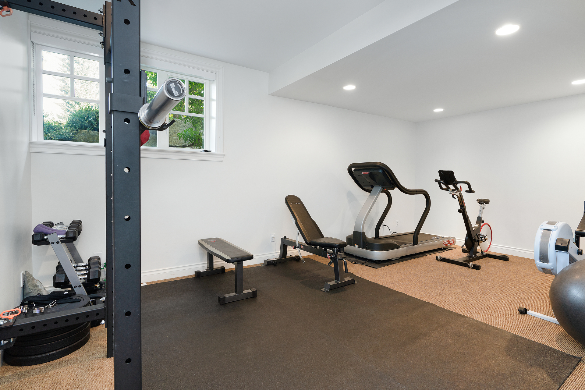 Home Gym at 4682 Decourcy Court, Caulfeild, West Vancouver
