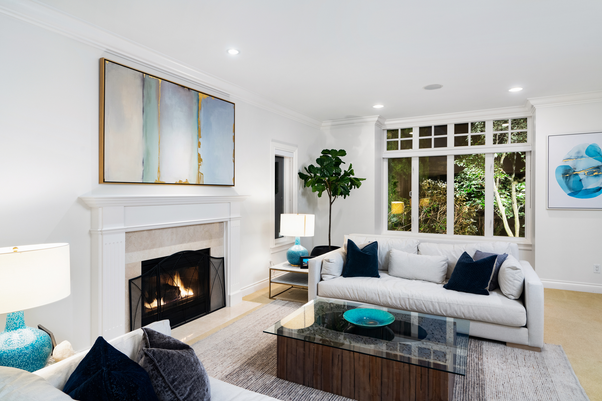 Living Room at 4682 Decourcy Court, Caulfeild, West Vancouver