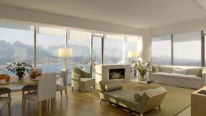 The-Private-Residences-on-Georgia-Interior-Rendering-Mike-Stewart at 667 Howe Street, Downtown VW, Vancouver West