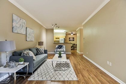 living-room-off-kitchen at #106 - 15298 20 Avenue, King George Corridor, South Surrey White Rock