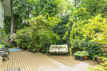 deck-swing at 8413 Arbour Place, Nordel, N. Delta