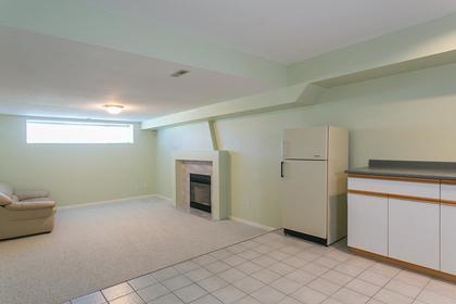 bsmt living room at 7589 Manzanita Place, Burnaby East
