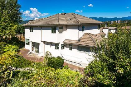 exterior back at 7589 Manzanita Place, Burnaby East