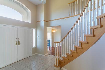 foyer & staircase at 7589 Manzanita Place, Burnaby East
