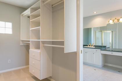 walk-in closet & ensuite at 7589 Manzanita Place, Burnaby East