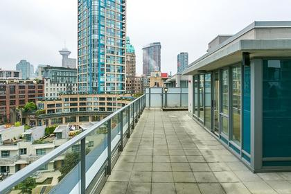 deck (main) at #802 - 633 Abbott Street, Downtown VW, Vancouver West