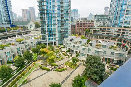 view deck courtyard at #802 - 633 Abbott Street, Downtown VW, Vancouver West