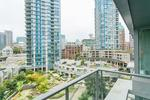 view balcony courtyard (main) at #802 - 633 Abbott Street, Downtown VW, Vancouver West