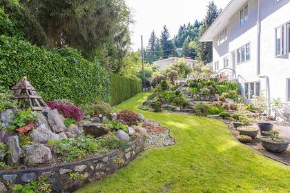 garden backyard at 720 Anderson Cresent, Sentinel Hill, West Vancouver