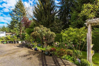garden patio at 720 Anderson Cresent, Sentinel Hill, West Vancouver