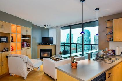 livng room & kitchen at #1907 - 501 Pacific Street, Downtown VW, Vancouver West