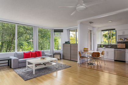 unit-open-to-living-dining-rm at #302 - 7321 Halifax Street, Simon Fraser Univer., Burnaby North