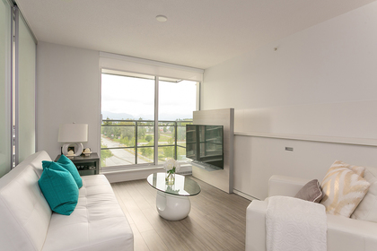 living-rm-balcony at #706 - 13398 104 Avenue, Whalley, North Surrey