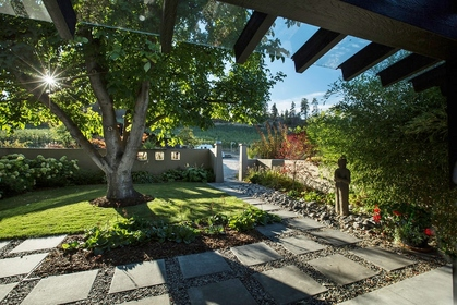 exterior-front-courtyard at 8708 Belvedere Place,
