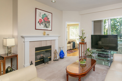 living-rm-fireplace-den at #304 - 5760 Hampton Place, University VW, Vancouver West