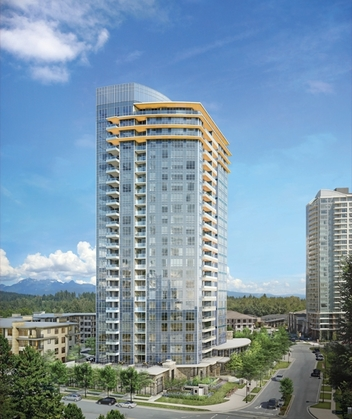 building exterior at #1209 - 3093 Windsor Gate, New Horizons, Coquitlam