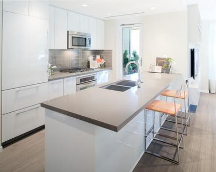 kitchen at #1209 - 3093 Windsor Gate, New Horizons, Coquitlam